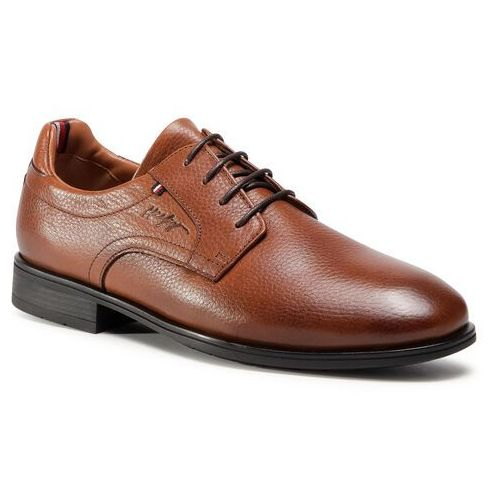Półbuty TOMMY HILFIGER - Technical Comfort Leather Shoe FM0FM03038 Winter Cognac GVI, kolor brązowy
