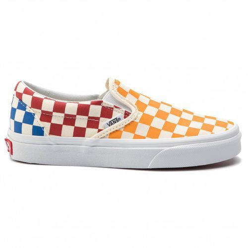 Nowe buty classic slip on checkerboard multi/true white rozmiar 42/27cm marki Vans