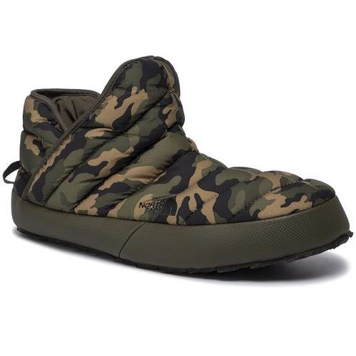 Kapcie - thermoball traction bootie t93mkhgx1 new taupe green/burnt olive green woodland camo print, The north face, 40.5-47