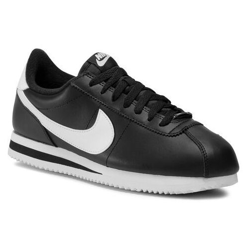 Buty NIKE - Cortex Basic Leather 819719 012 Black/White/Metallic Silver