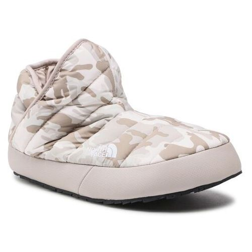 Kapcie THE NORTH FACE - Thermoball Traction Bootie NF0A3MKH32B1 Print/Silver Grey, kolor beżowy