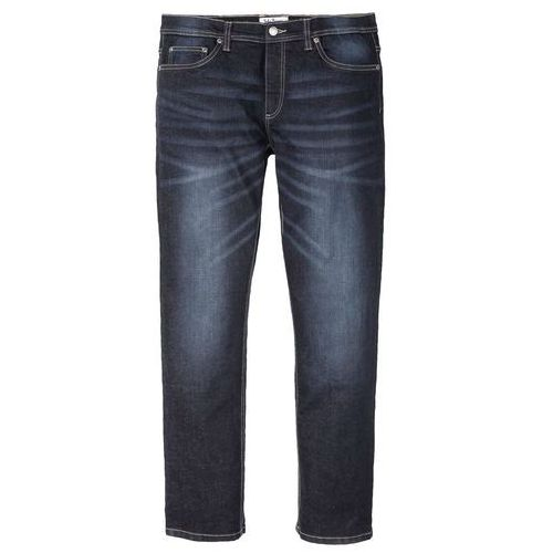 Dżinsy ze stretchem Regular Fit Straight bonprix ciemny denim