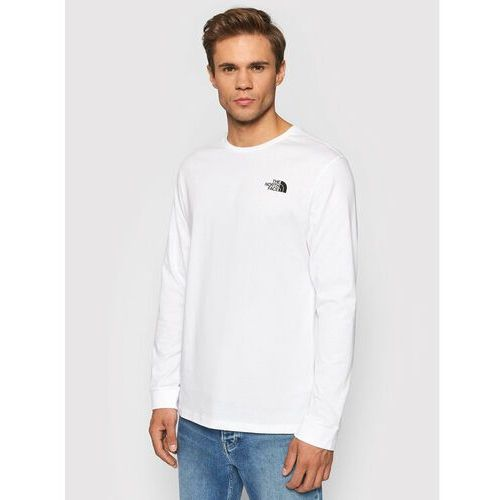 Longsleeve simple dome nf0a3l3bfn41 biały regular fit, The north face