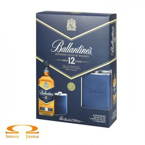 Whiskey Ballantine's 12 YO + piersiówka