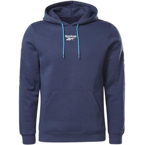 Bluza męska training essentials tape hoodie granatowa gu9960, Reebok