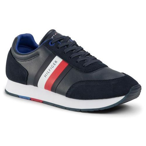 Sneakersy - corporate leather flag runner fm0fm02602 desert sky dw5, Tommy hilfiger, 41-44