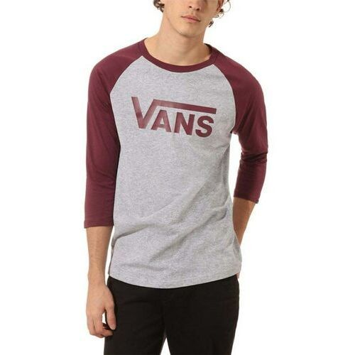 Koszulka - vans classic raglan athletic heather/prune (tn0) rozmiar: s marki Vans