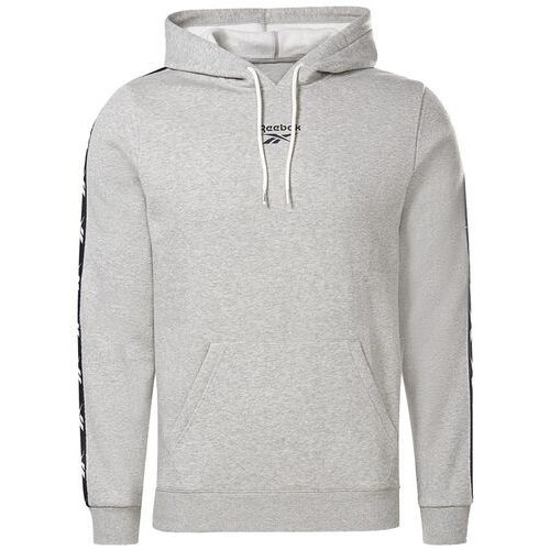 Reebok Bluza męska training essentials tape hoodie szara gu9959