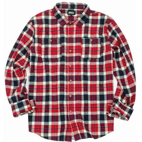 koszula GRIZZLY - Outfield Ls Woven Red (RED) rozmiar: M