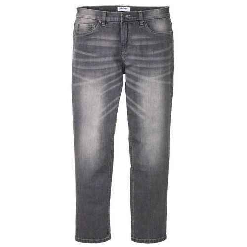 Dżinsy ze stretchem Regular Fit Straight bonprix szary denim, kolor szary