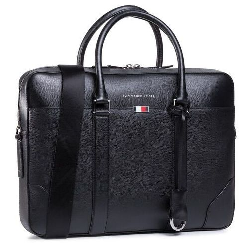 Torba na laptopa TOMMY HILFIGER - Business Leather Slim Comp Bag AM0AM06462 BDS
