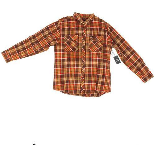 Brixton Koszula - bowery flannel brown/copper (brcop)