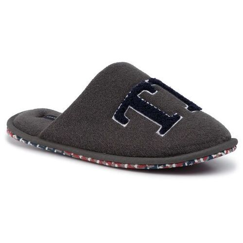 Kapcie - th logo homeslipper fm0fm02616 dark ash pty, Tommy hilfiger