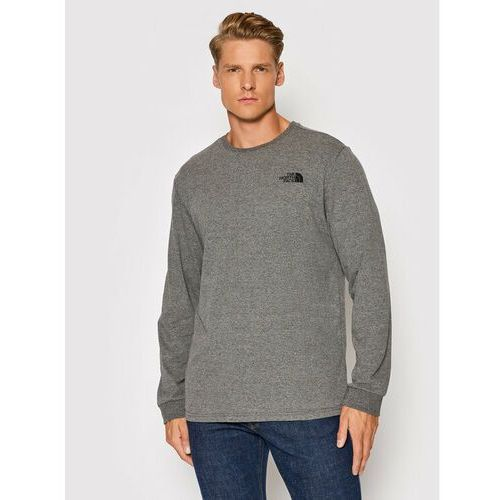 Longsleeve simple dome nf0a3l3bdyy1 szary regular fit, The north face