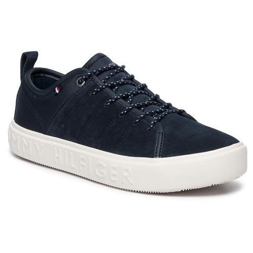 Tommy hilfiger Sneakersy - corporate branded cupsole low fm0fm02392 midnight 403