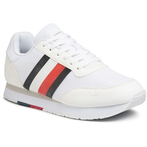 Sneakersy TOMMY HILFIGER - Corporate Material Mix Runner FM0FM02688 White YBS, 44-45