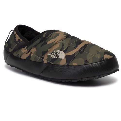 Kapcie THE NORTH FACE - Thermoball Traction Mule V T93UZNFQ3 Burnt Olive Green Woodland Camo Print/Tnf Black, w 4 rozmiarach