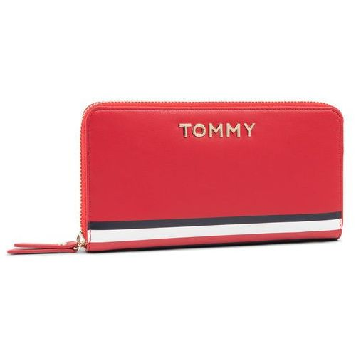 Duży Portfel Damski TOMMY HILFIGER - Th Corporate Lrg Za Wallet AW0AW07736 XAF