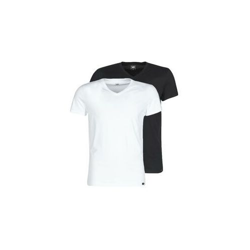 Lee T-shirty z krótkim rękawem twin pack v neck 2 pack mix