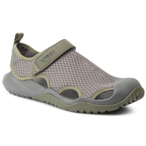 Sandały - swiftwater mesh deck sandal m 205289 slate grey, Crocs, 39.5-46.5