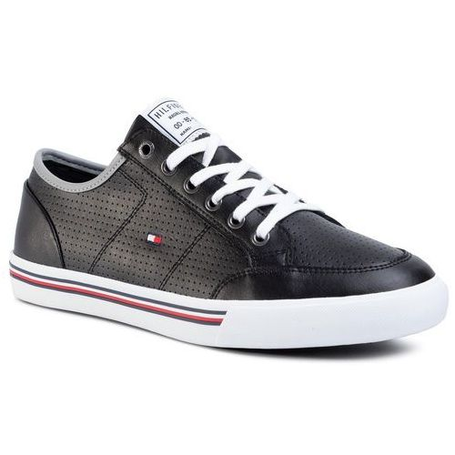 Sneakersy - core corporate leather sneaker fm0fm02677 black bds, Tommy hilfiger, 41-44