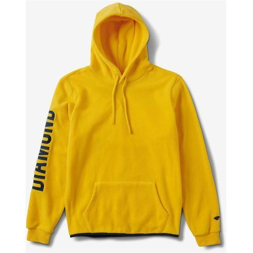 Diamond Bluza - diamond polar fleece hoodie yellow (yel) rozmiar: s