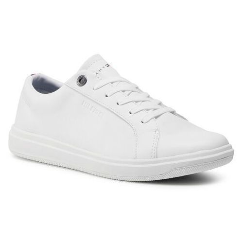 Sneakersy TOMMY HILFIGER - Modern Clean Leather Cupsole FM0FM02992 White YBR, kolor biały