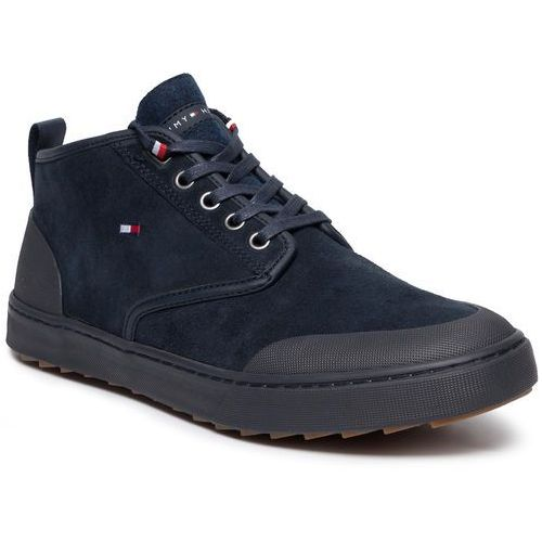 Tommy hilfiger Sneakersy - core corporate winter chukka fm0fm02377 midnight 403