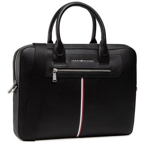 Torba na laptopa TOMMY HILFIGER - Th Downtown Super Slim Comp Bag AM0AM07216 BDS