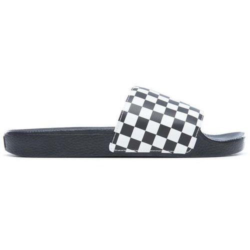 Buty - slide-on (checkerboard) white (ip9), Vans